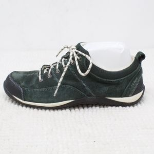 LL Bean Green Suede Sneakers Size 8.5